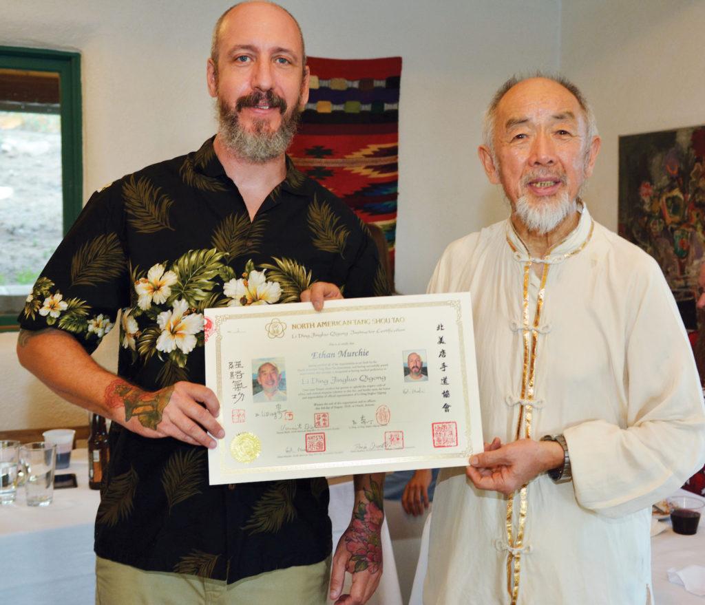 Ethan Murchie et Dr Li Ding, Arizona, 2018